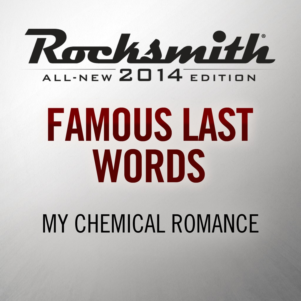 Famous Last Words - My Chemical Romance