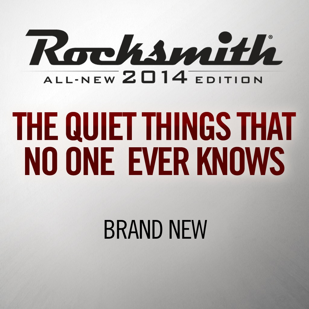The Quiet Things That No One Ever Knows - Brand New