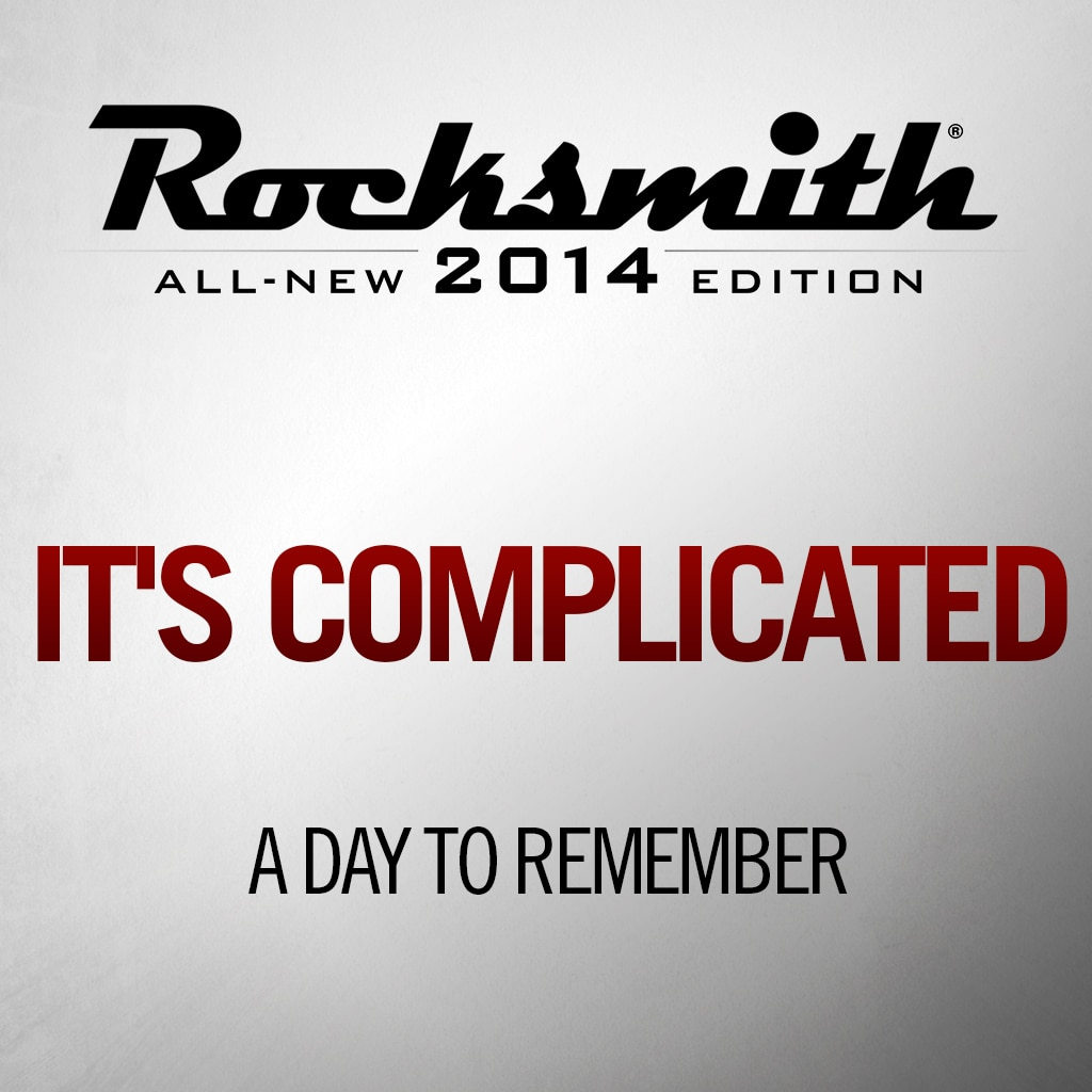 'It's Complicated' by A DAY TO REMEMBER