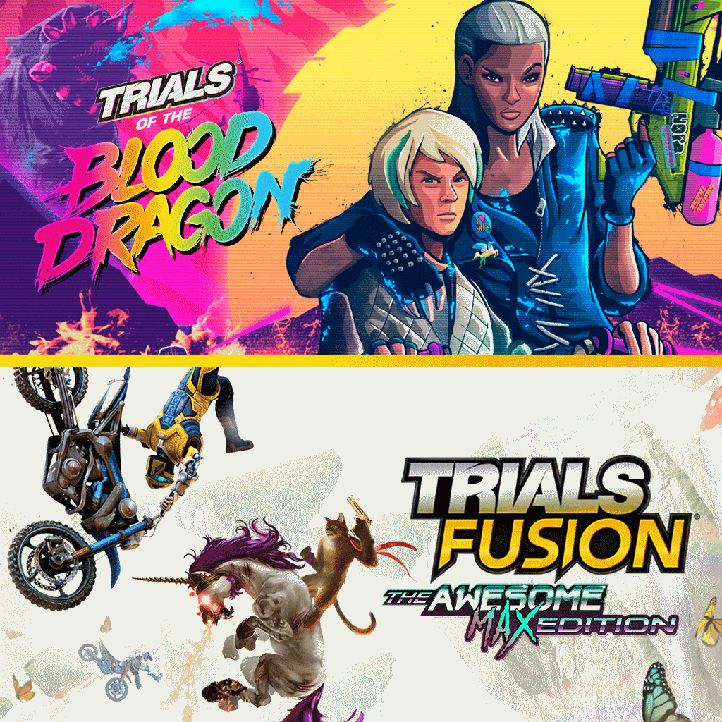 إصدار TRIALS OF THE BLOOD DRAGON + TRIALS FUSION AWESOME MAX