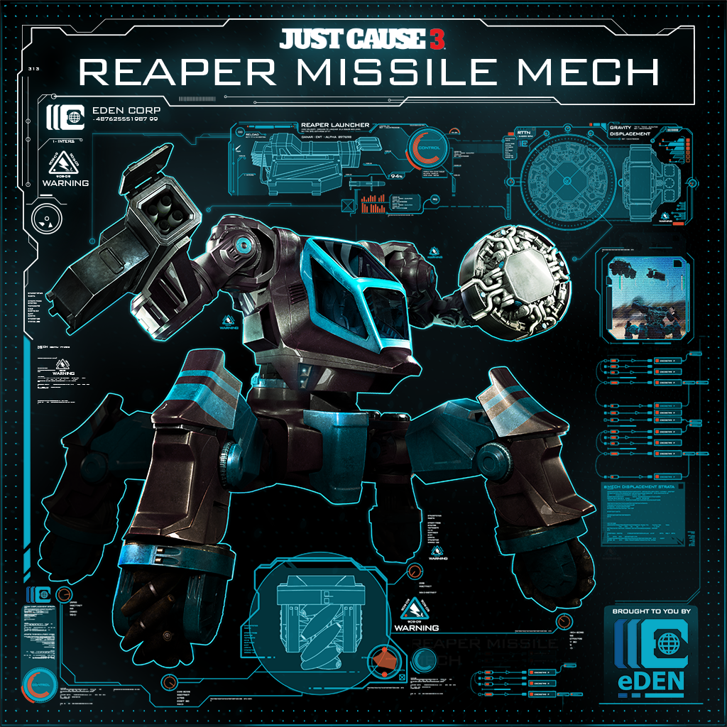 Just Cause 3: Reaper Missile Mech