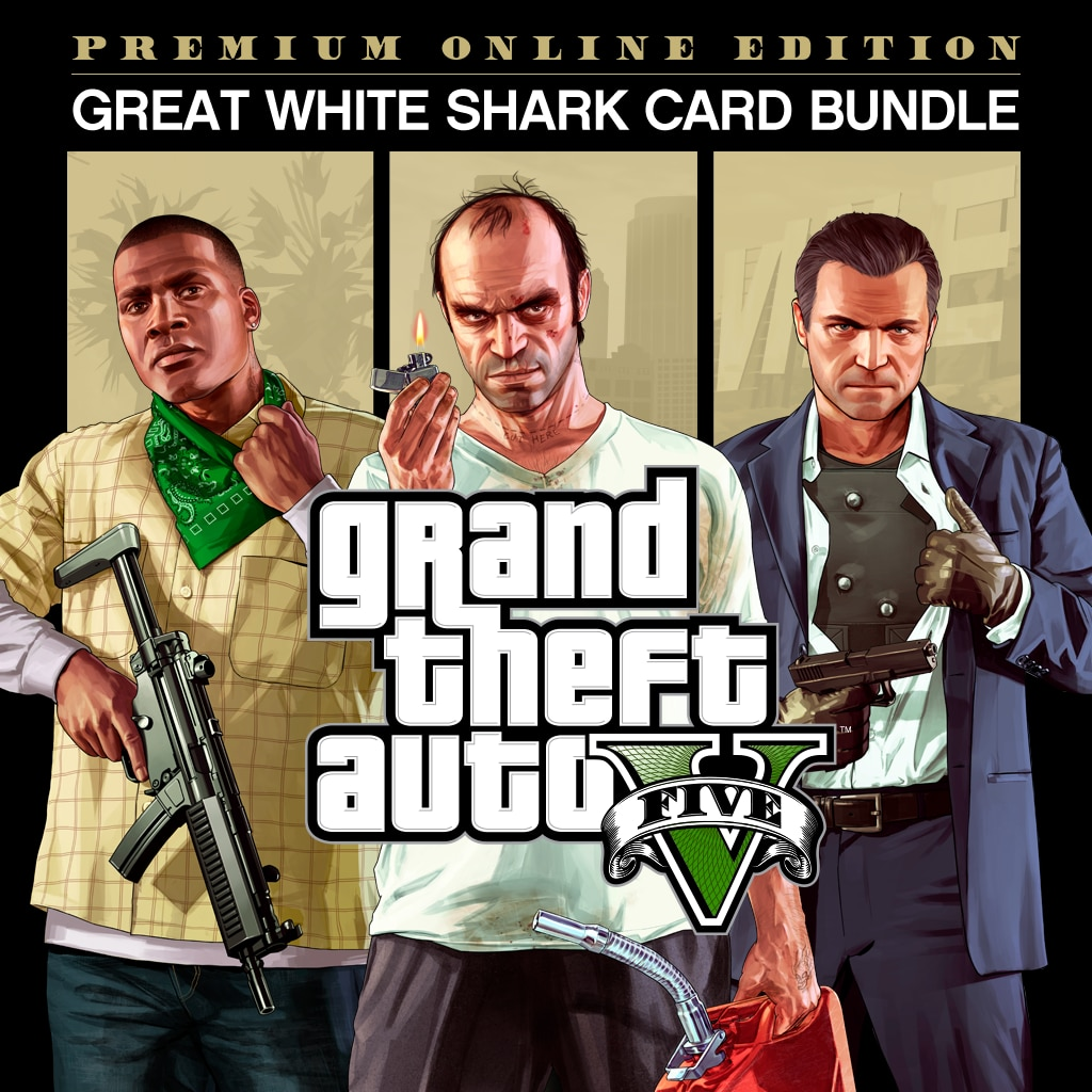 GTAV Premium Online Edition & Great White Shark Card Bundle
