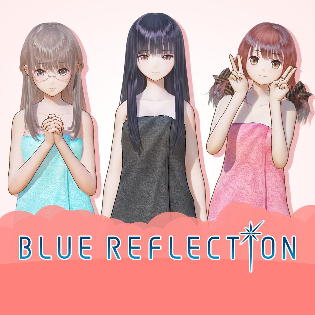 BLUE REFLECTION: Bath Towels Set D (Sanae, Ako, Yuri)