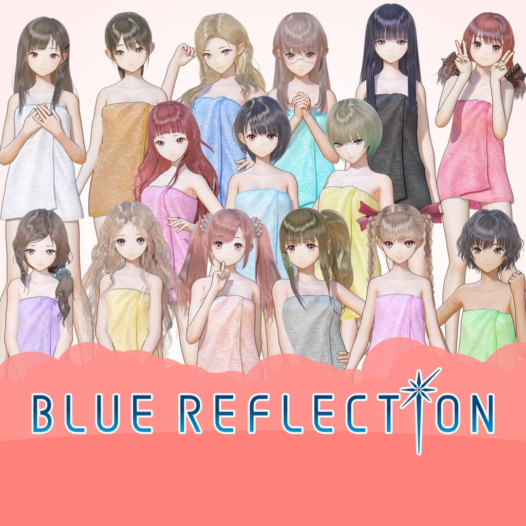 BLUE REFLECTION: Bath Towels Complete Set