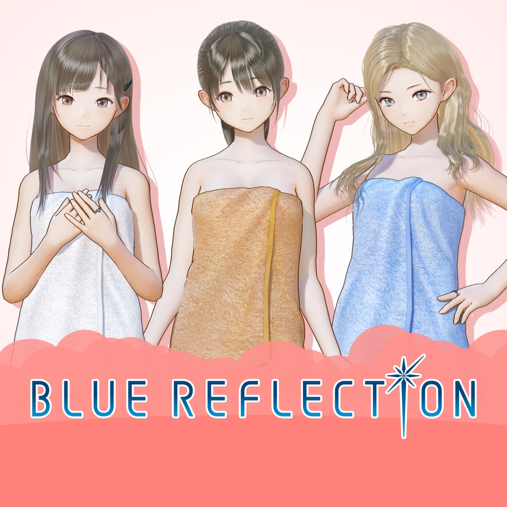 BLUE REFLECTION: Bath Towels Set E (Rin, Kaori, Rika)