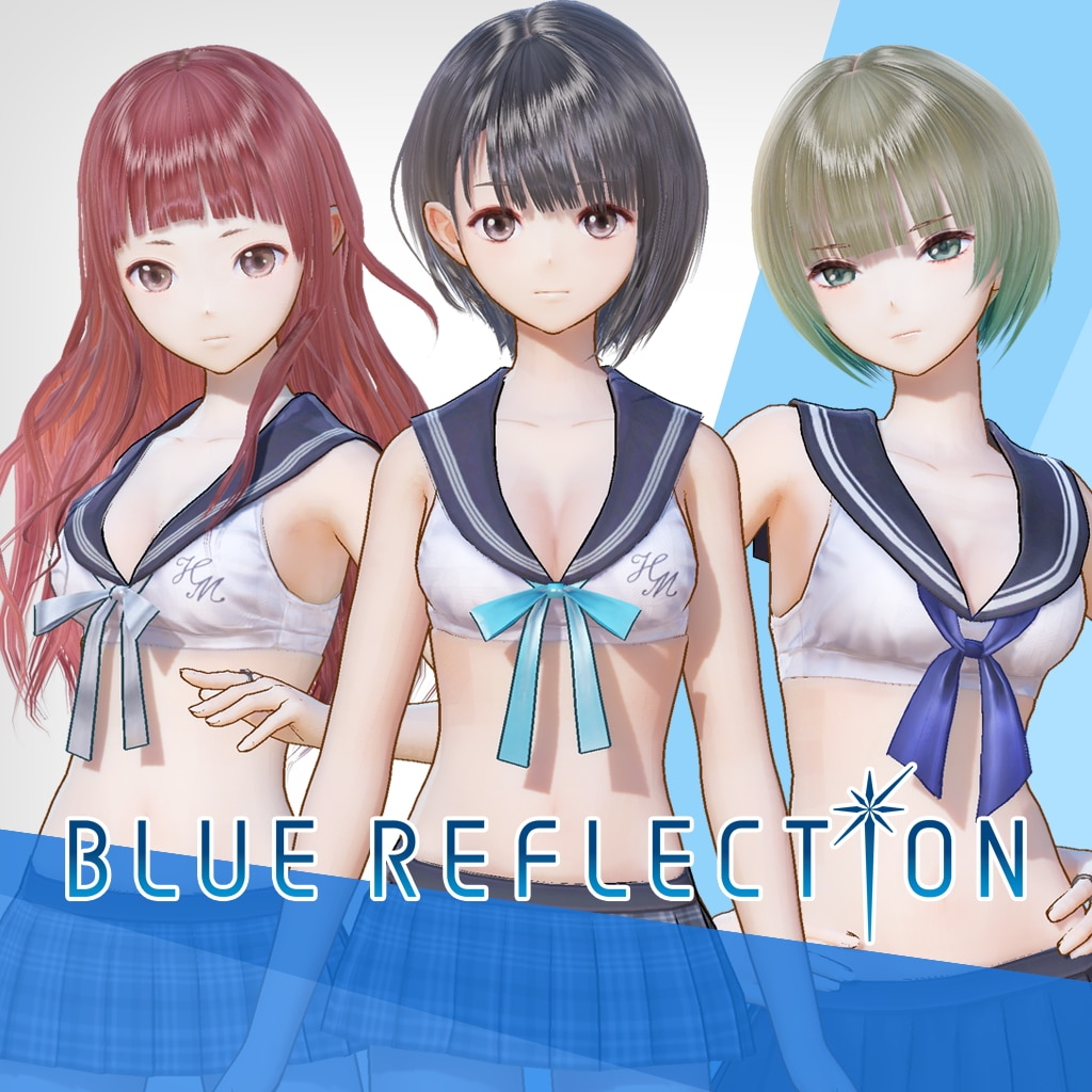 BLUE REFLECTION: Sailor Swimsuits set A (Hinako, Sarasa, Mao)