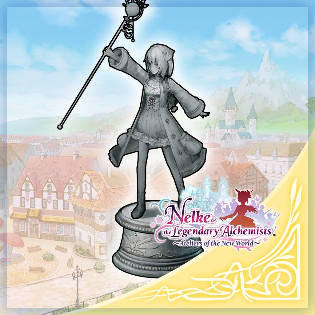 Mysterieus alchemisten-standbeeld