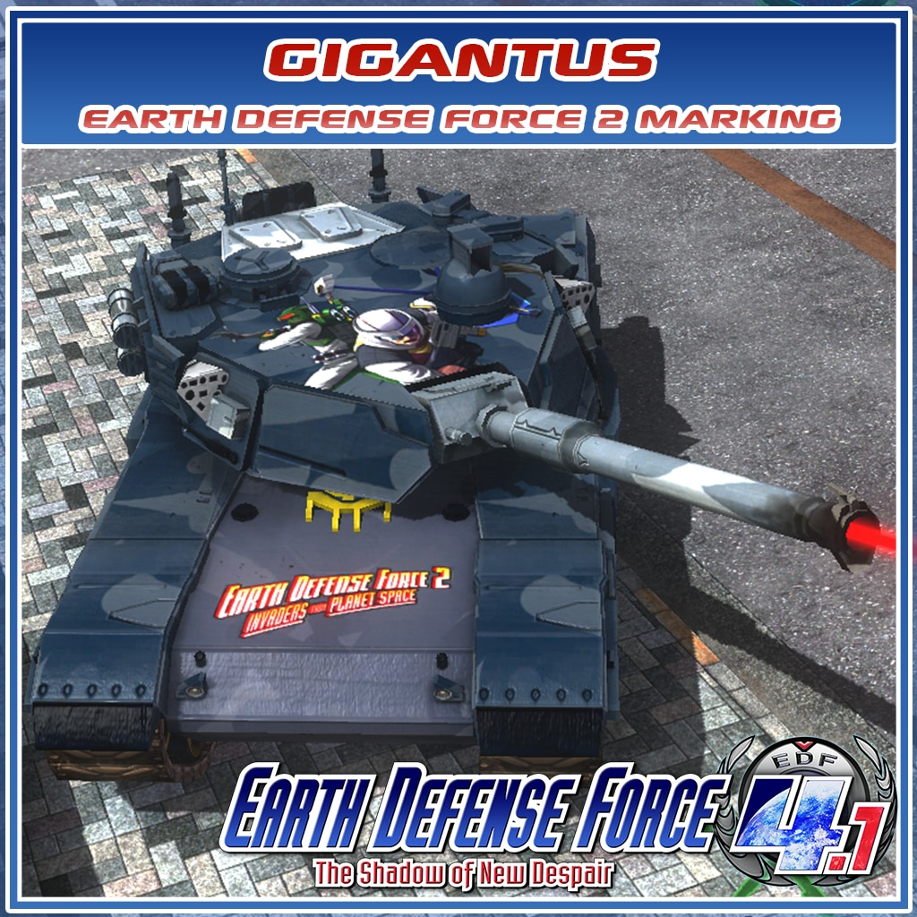 Gigantus Earth Defense Force 2 Marking