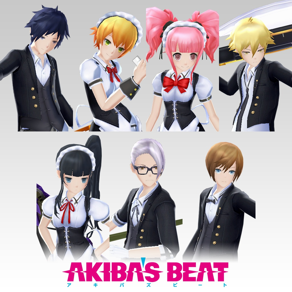Akiba's Beat - Maid/Butler Costume Set [Cross-Buy]