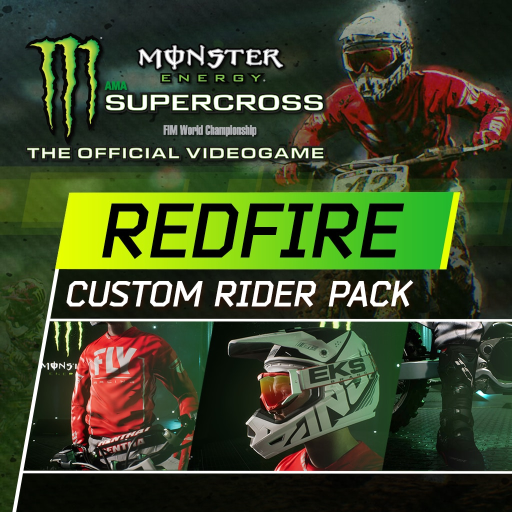 Monster Energy Supercross - Redfire Custom Rider Pack