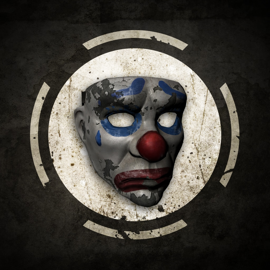 Masque de clown triste