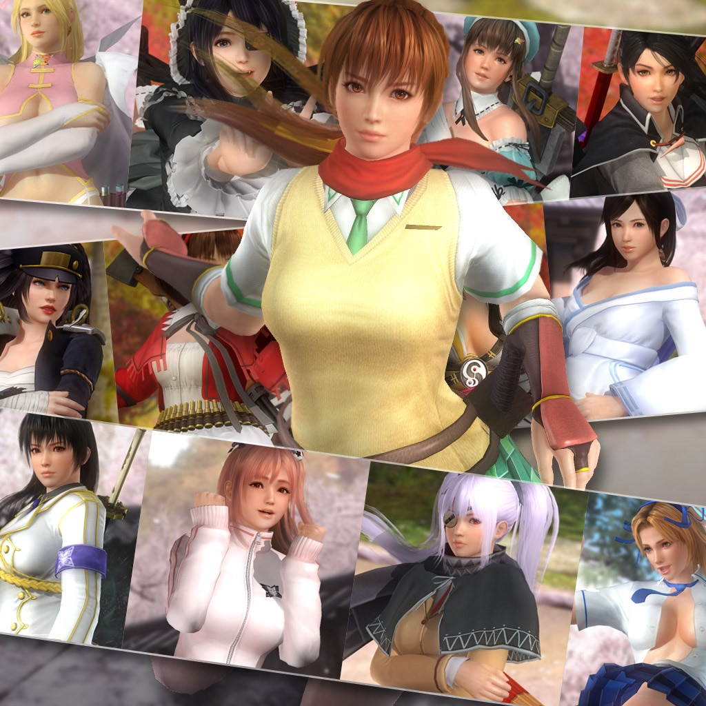 DOA5LR Senran Kagura Mashup Set (English/Chinese/Japanese Ver.)