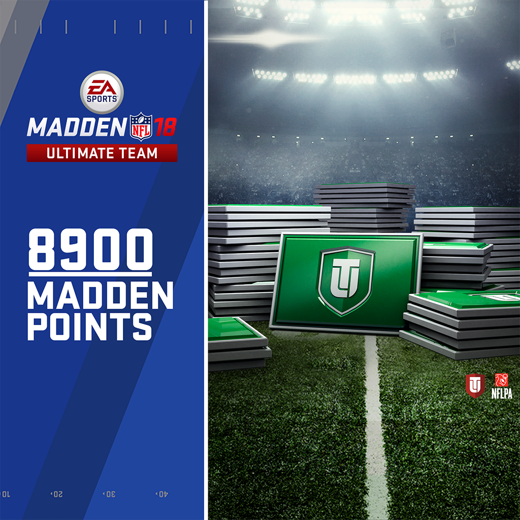 8900 Madden NFL 18 Ultimate Team 포인트 (영어판)