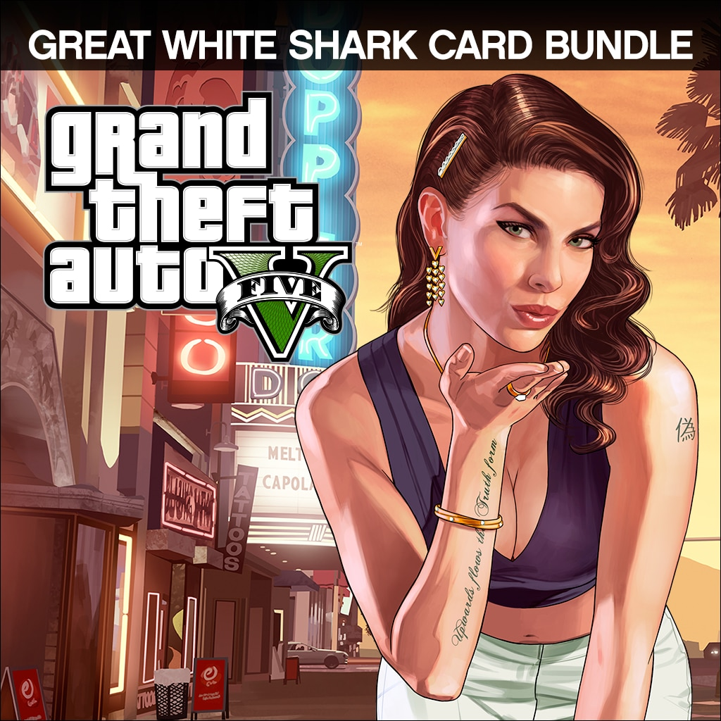Grand Theft Auto V & Great White Shark Cash Card Bundle
