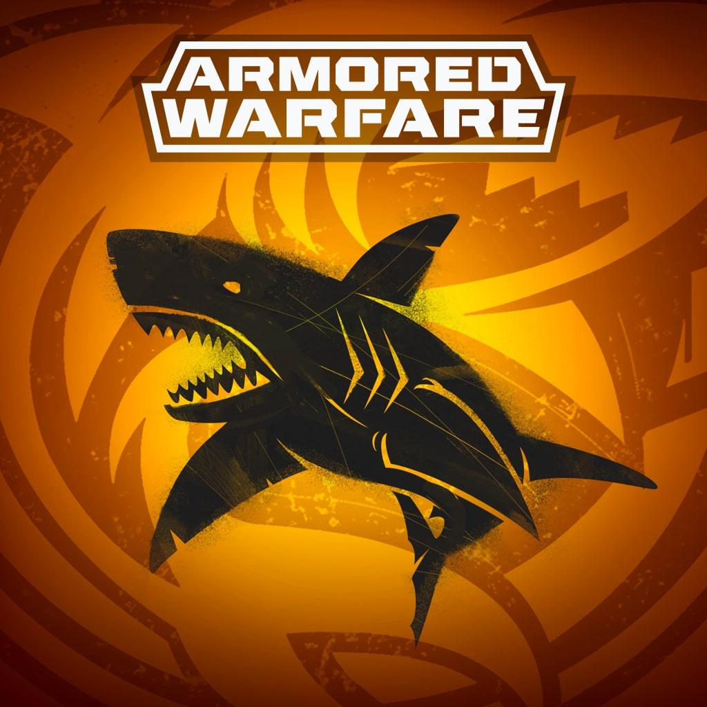 Armored Warfare – Calcomanía de tiburón negro