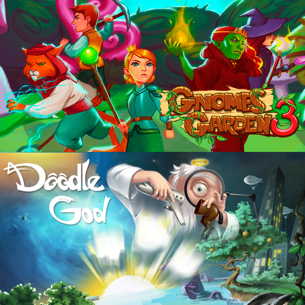 Gnomes Garden 3: The thief of castles&Doodle God
