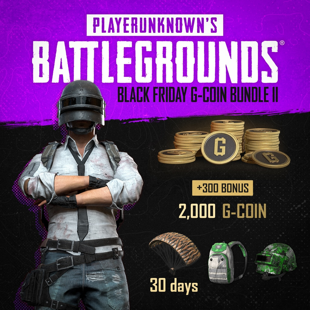 PUBG - Black Friday G-Coin Bundle II (English/Chinese/Korean/Japanese Ver.)