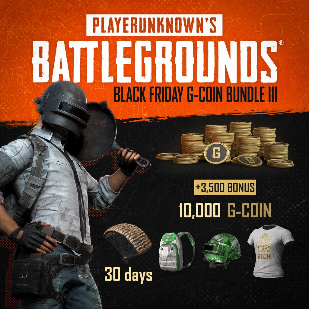 PUBG - Black Friday G-Coin Bundle III (English/Chinese/Korean/Japanese Ver.)