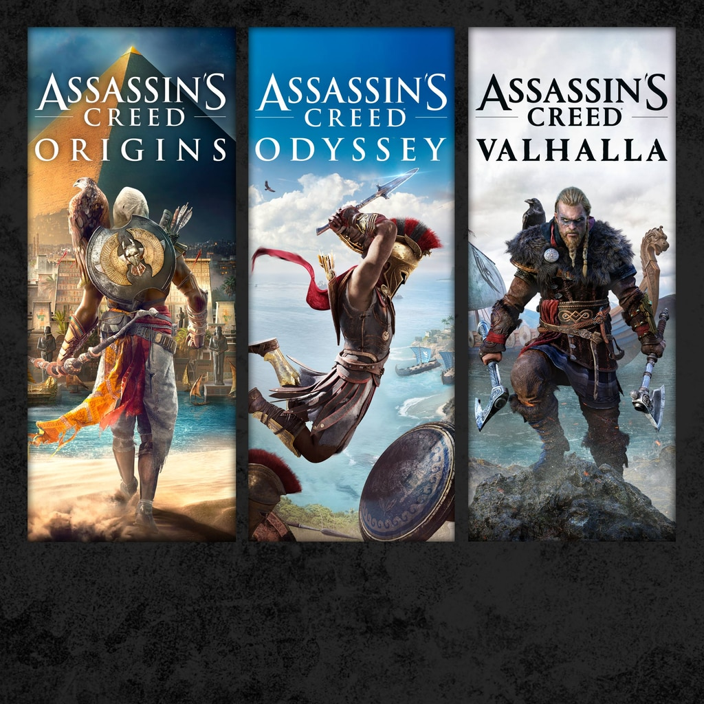 Pacote Assassin's Creed®: Assassin's Creed® Valhalla, Assassin's Creed® Odyssey e Assassin's Creed® Origins