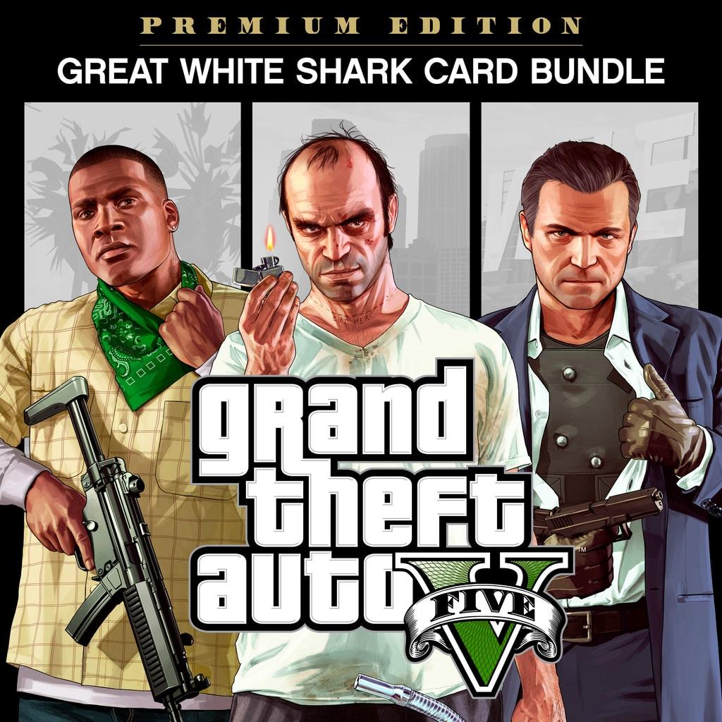 Bundle Grand Theft Auto V: Édition Premium et paquet de dollars Great White Shark