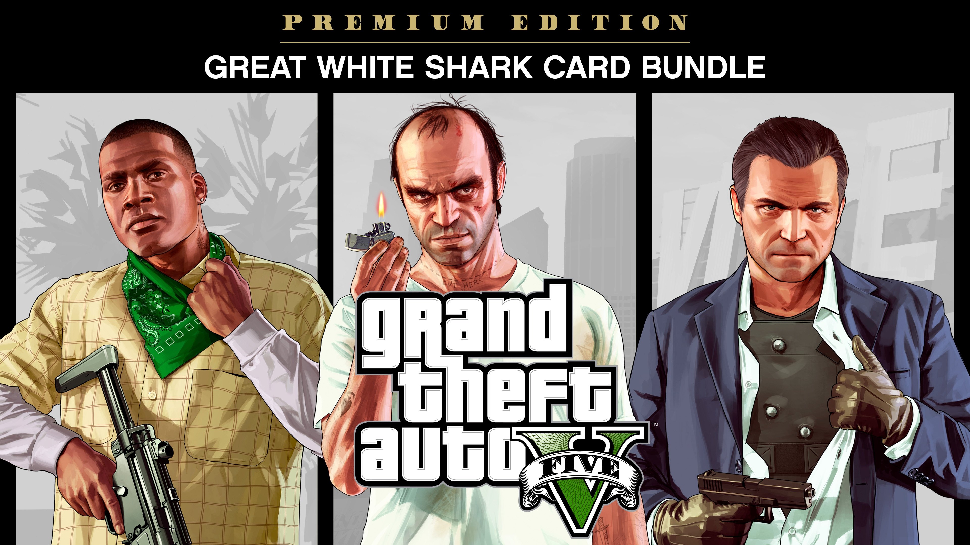 Grand Theft Auto V: Premium Edition & Great White Shark Card Bundle