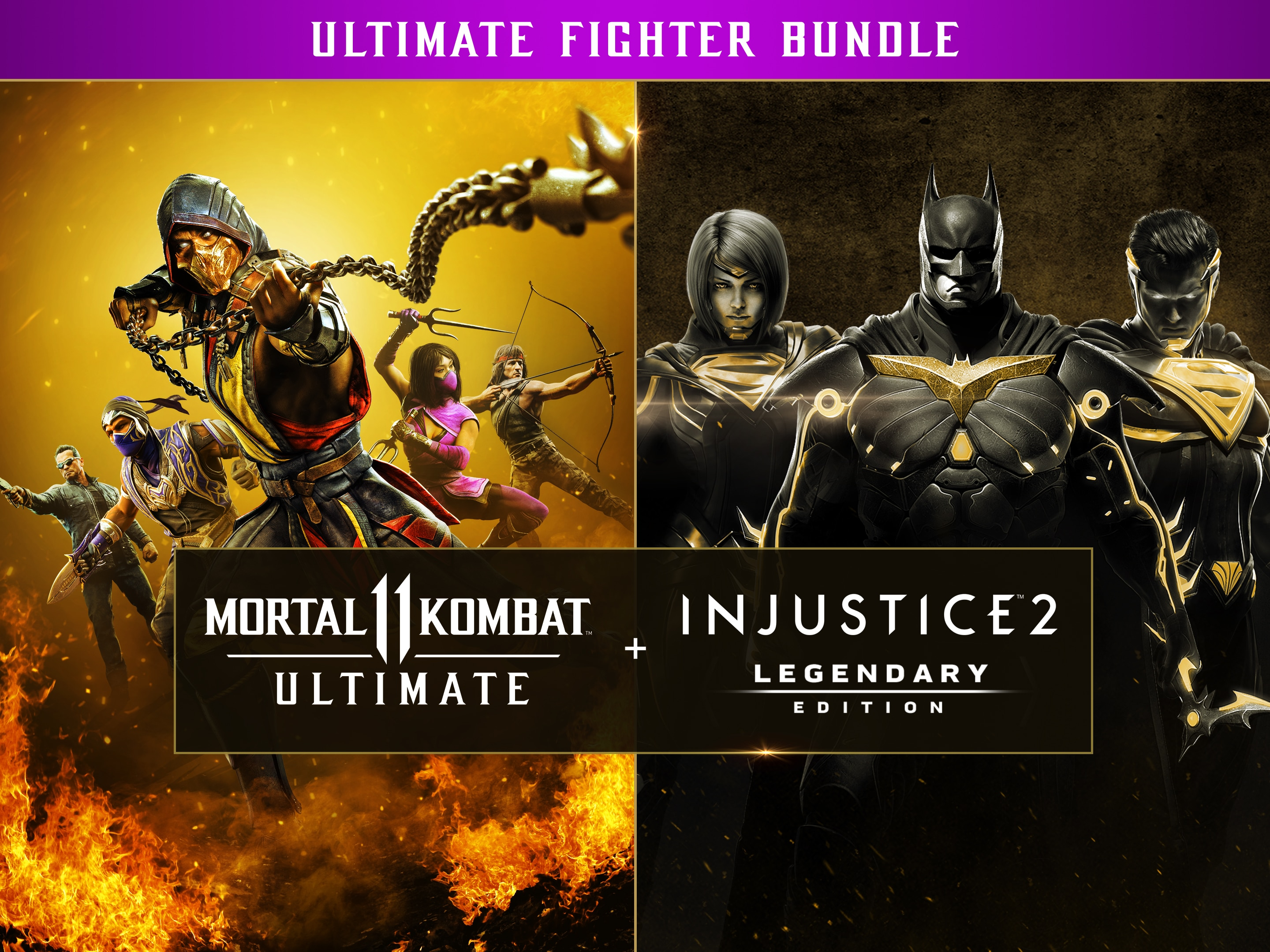 Mortal Kombat 11 Ultimate + Injustice 2 Leg. Edition Bundle