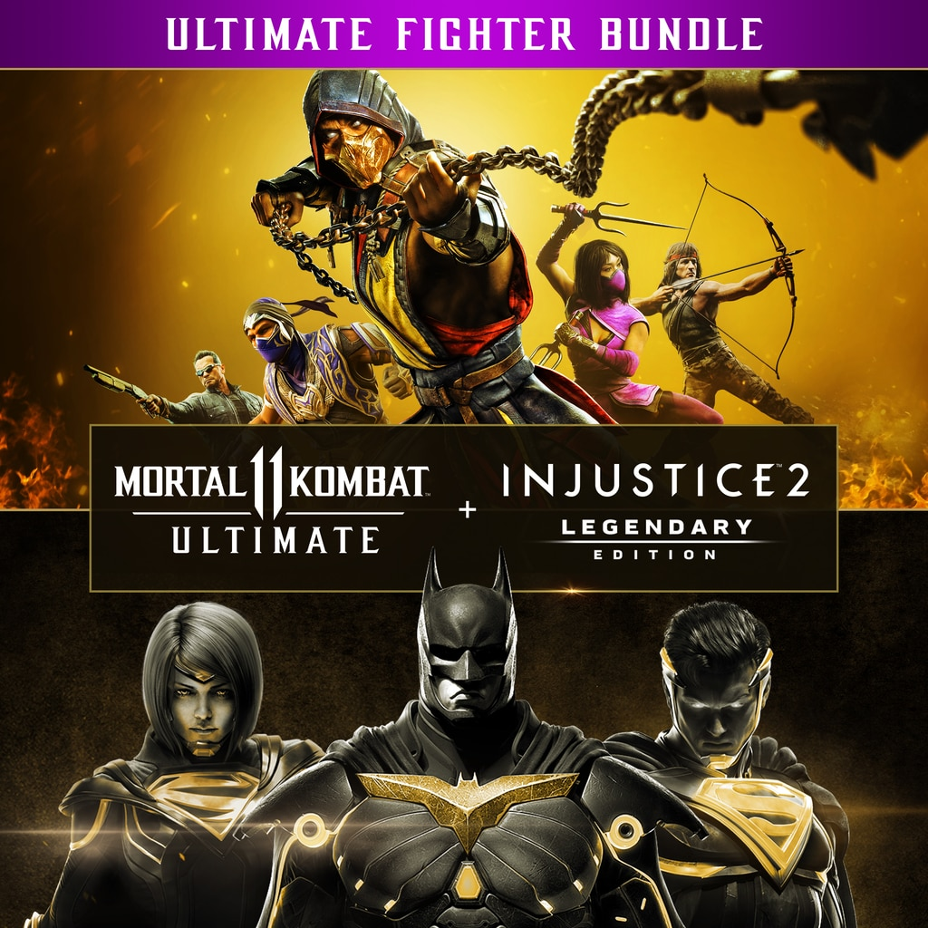 Lote Mortal Kombat 11 Ultimate + Injustice 2 Leg. Edition