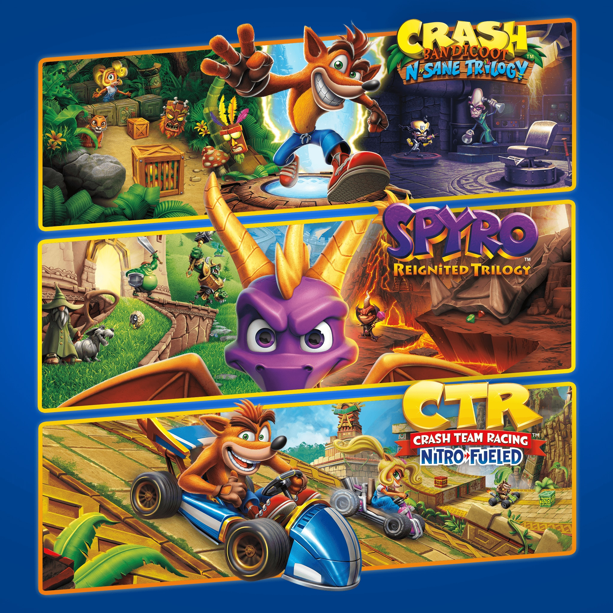Crash™ + Spyro™ Triple Play-Paket