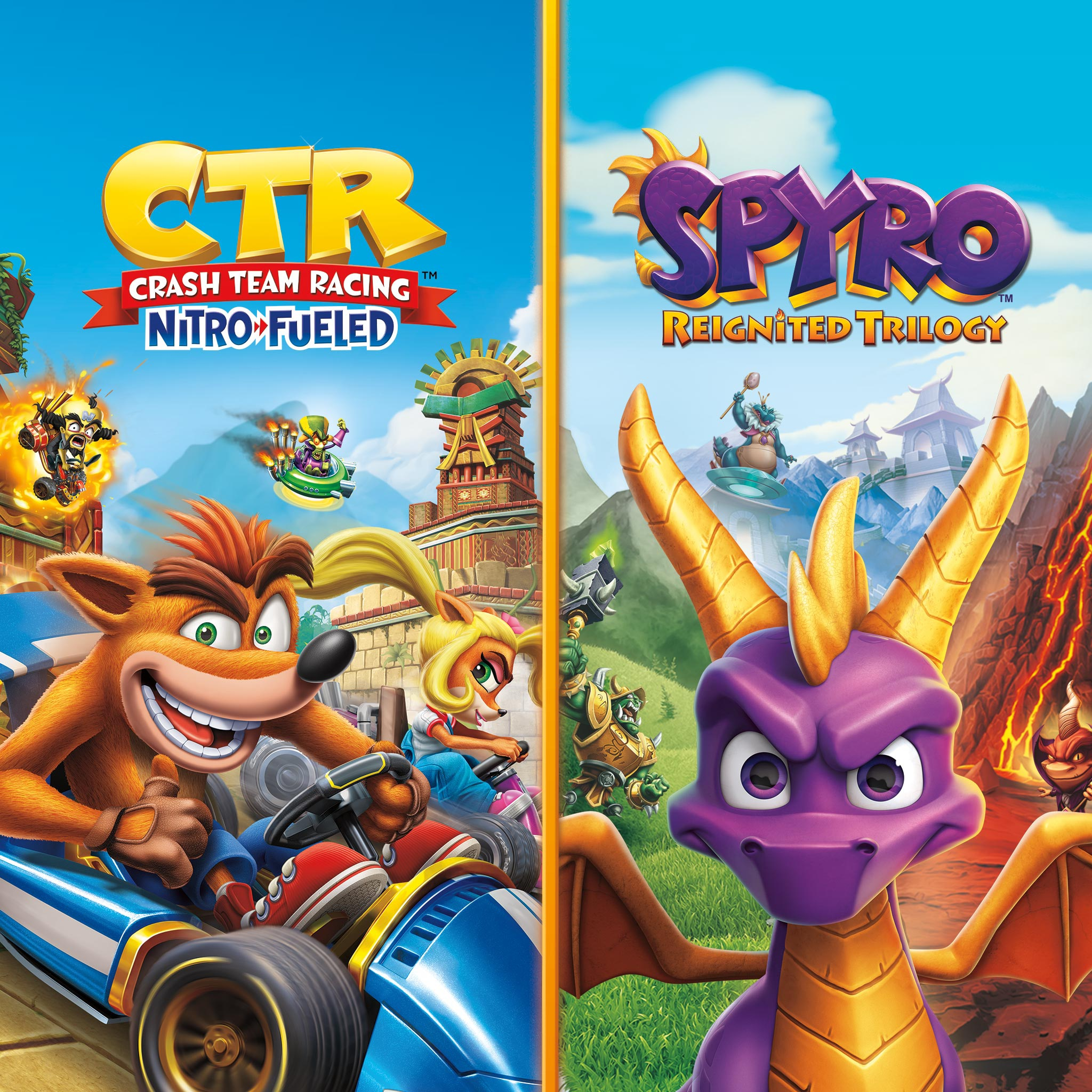 Crash™ Team Racing Nitro-Fueled + Spyro™-Spielepaket