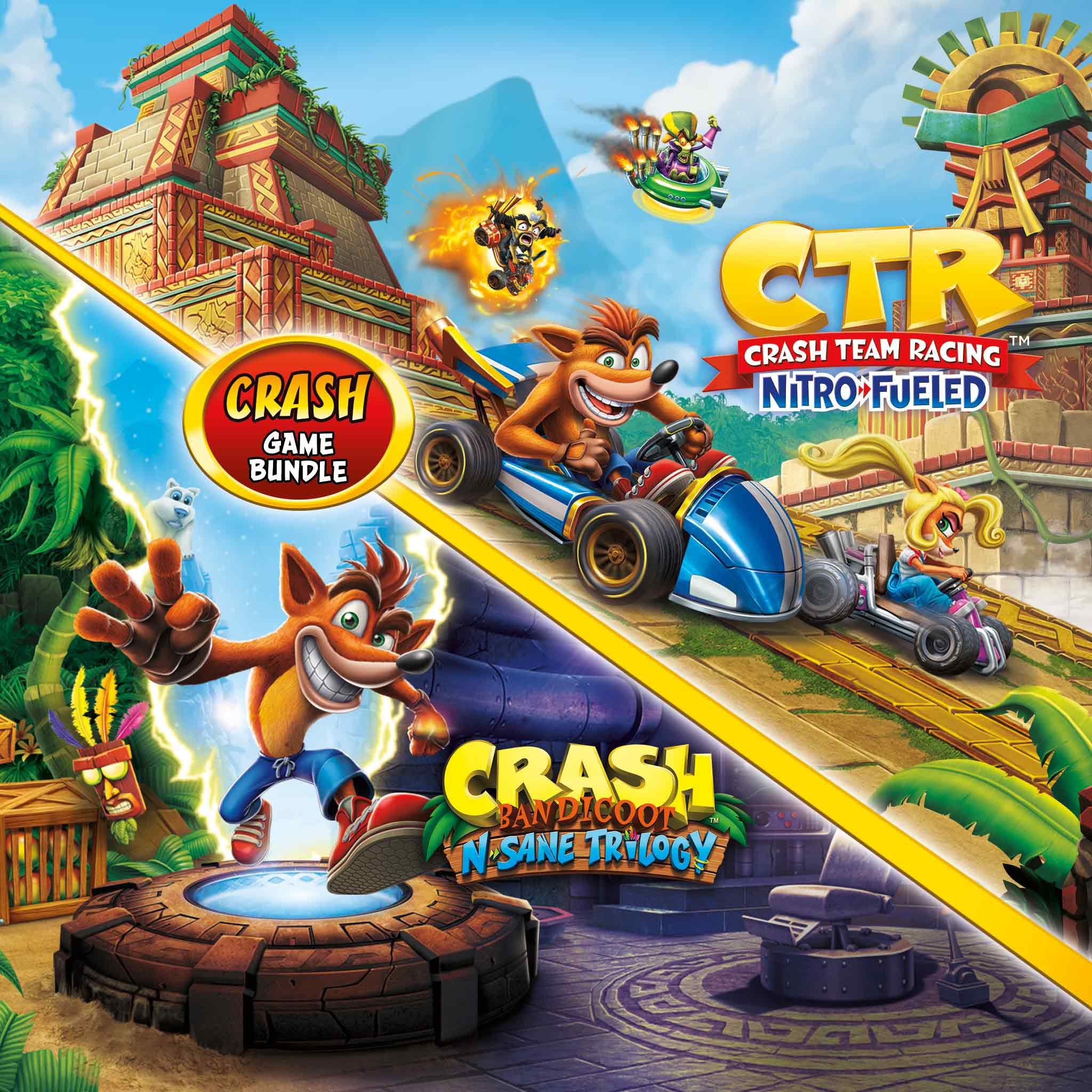 Lote Crash Bandicoot™: N. Sane Trilogy + CTR Nitro-Fueled