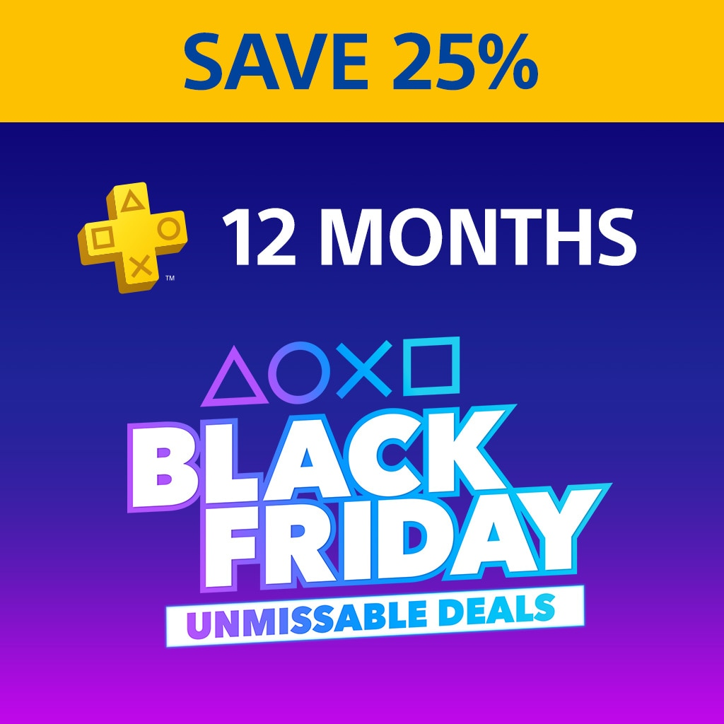 PlayStation Plus: 12 Month Membership - 25% Off