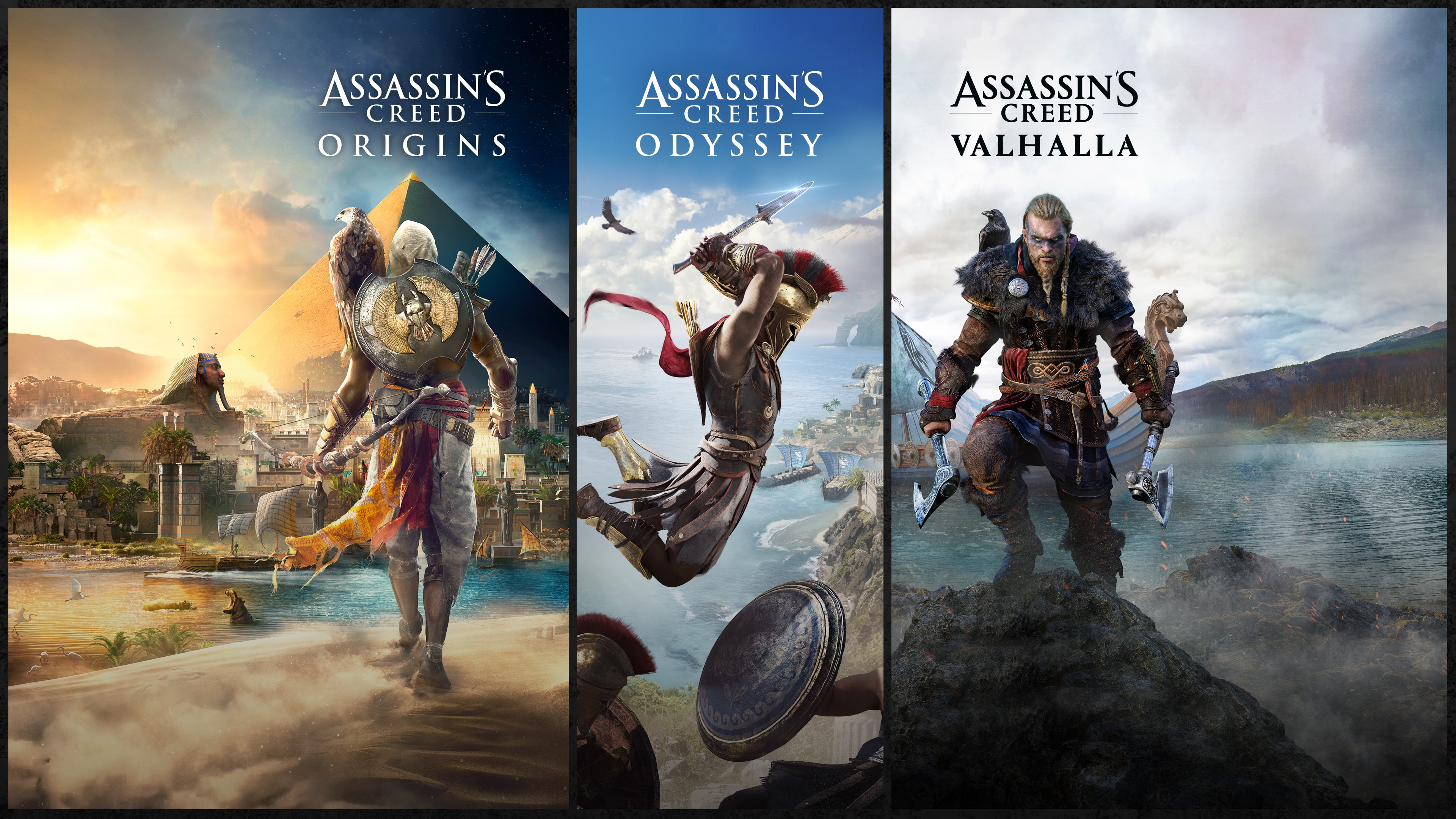 Assassin's Creed® Bundle: Assassin's Creed® Valhalla, Assassin's Creed® Odyssey, and Assassin's Creed® Origins
